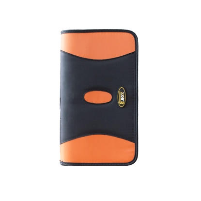 Picture of E.BOX case for CD, for 64 disks, orange and black