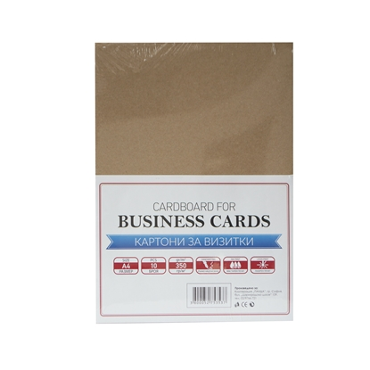 Picture of Top Office Cardboard for business cards Recycling Brown, A4, 350 g/m?, 10 sheets