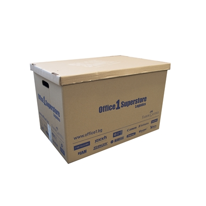 Picture of Box for wrapping, 577 x 390 x 400 mm, five-layered, with cover and handles, 5 pcs