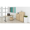 Picture of Narbutas Ergonomic electric desk 1400 x 800 x, 740 mm, white metal legs, amber-coloured board