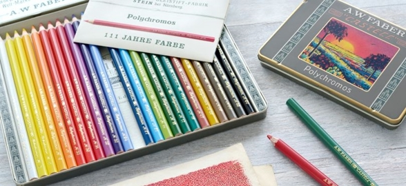 "The ""Polychromos"" pencils celebrate their 111 year anniversary in 2019!"