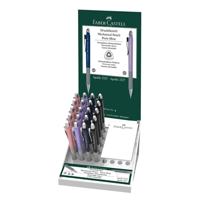 Picture of Faber-Castell automatic pencil Apollo, 0.7 mm, 20 pcs in display