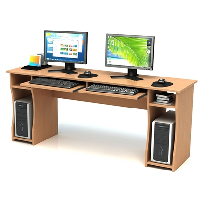 Picture of Computer table, double, 180 x 50 x 74 cm
