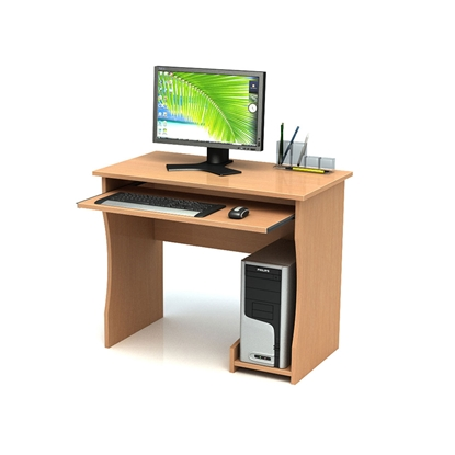 Picture of Computer table, single, 90 x 50 x 74 cm
