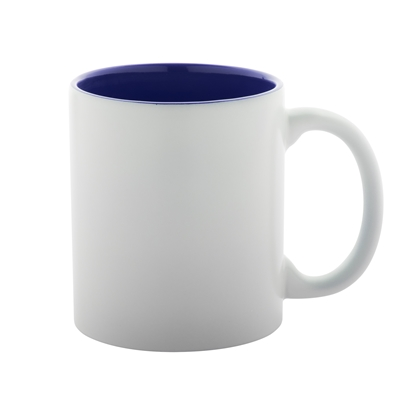 Picture of Cool cup Revery, ceramic, 350 ml, white and darkblue