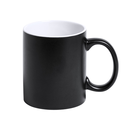 Picture of Cool cup Lousa, ceramic, 350 ml, black and white