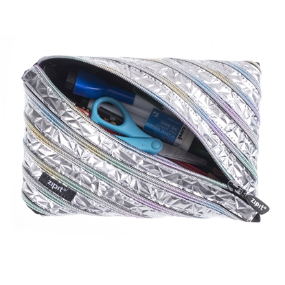 Picture of Zipit Case Metallic, large, silver
