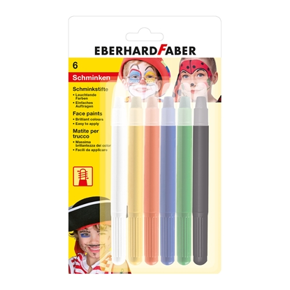 Picture of Ebarhard Faber Face pastels, 6 colors with applicator