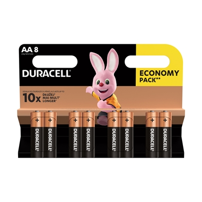Picture of Duracell alkaline battery, AA, LR6, 1.5 V, 8 pcs