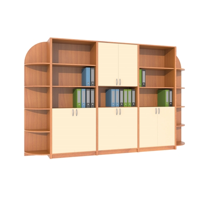 Picture of Set closets with angle, 320 x 40 x 200 cm