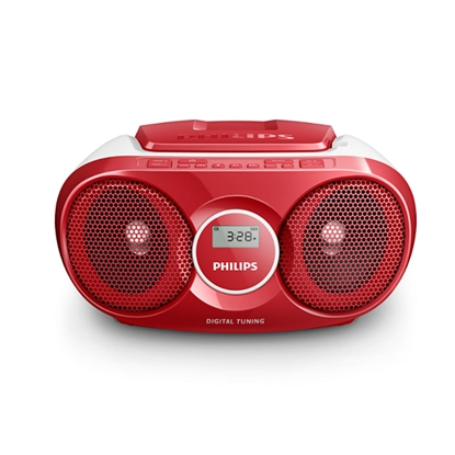 Picture of Philips radio-cassette player AZ215R, red
