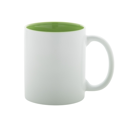 Picture of Cup, ceramic, white, with darkgreen inside