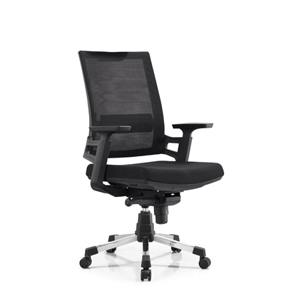 Picture of RFG Work chair Pissa W, damask and mesh, black seat, black backrest