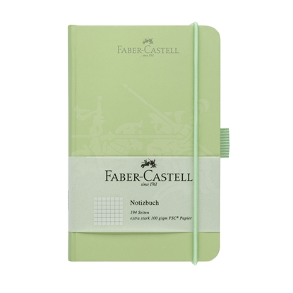 Picture of Faber-Castell book А6, of squares, with elastic, mintgreen