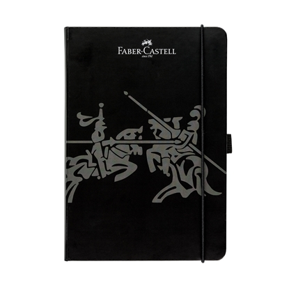 Picture of Faber-Castell book А5, of squares, with elastic, black