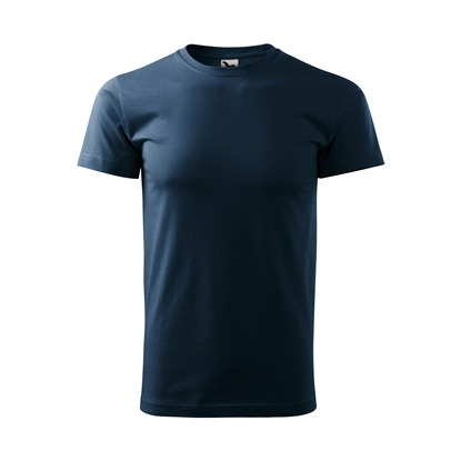 Picture of Malfini Mens T-shirt Basic 129, size L, navy blue
