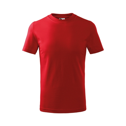 Picture of Malfini Kids T-shirt Basic 138, size 110 cm, age 4 years, red
