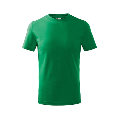 Picture of Malfini Kids T-shirt Basic 138, size 122 cm, age 6 years, green