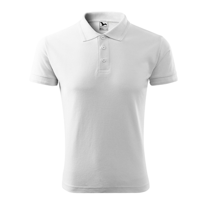 Picture of Malfini Mens t-shirt Pique Polo 203, size M, white