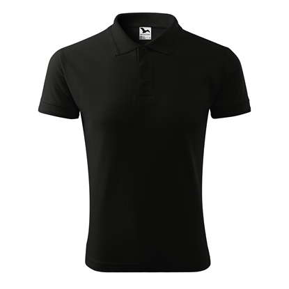 Picture of Malfini Mens T-shirt Pique Polo 203, size M, black