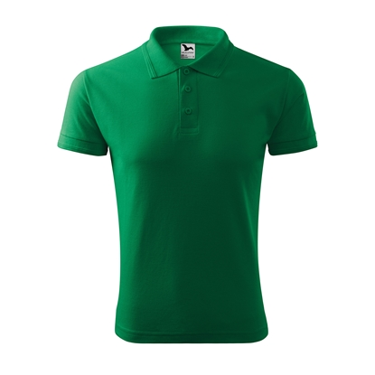 Picture of Malfini Mens T-shirt Pique Polo 203, size M, green