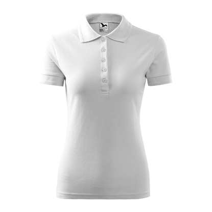 Picture of Malfini Womens T-shirt Pique Polo 210, size M, white