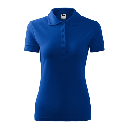 Picture of Malfini Womens T-shirt Pique Polo 210, size XXL, blue