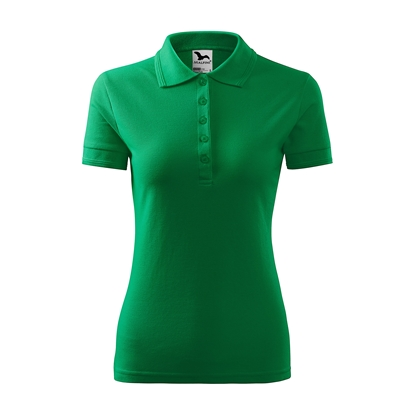 Picture of Malfini Womens T-shirt Pique Polo 210, size XXL, green