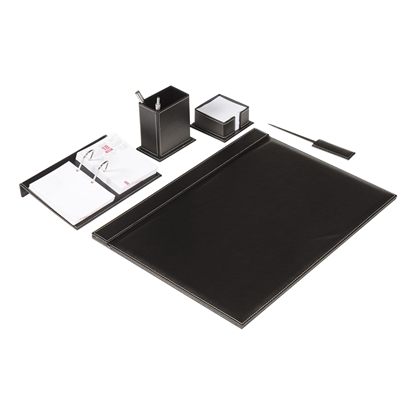 Picture of Gipta set for desk of 5 parts, leather, black
