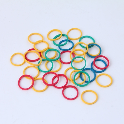 Picture of Top Office Rubber bands, 90% caoutchouc, O 15 mm, 50 g, coloured