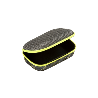 Picture of Zipit Case Mesh, with divider, in a box, black and yellow