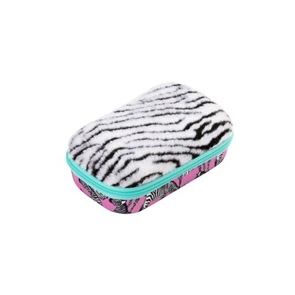 Picture of Zipit Case Fur, with divider, in a box, design zebra