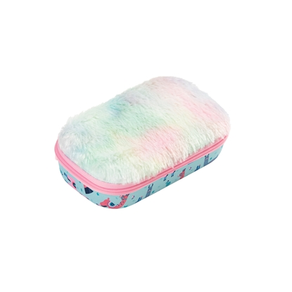 Picture of Zipit Case Fur, with divider, in a box, design llama