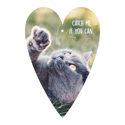 Picture of Gespansterwald Greeting card tag, cat