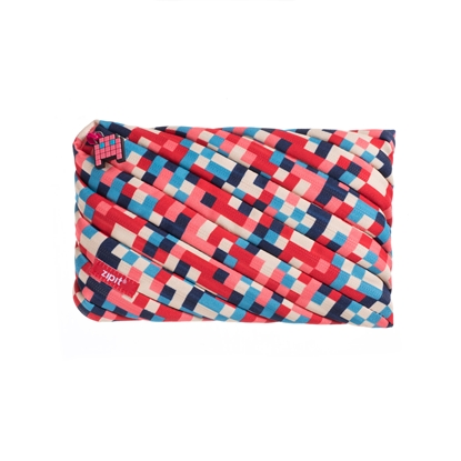Picture of Zipit Case Pixel, large, with zipper, blue and red