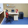 Picture of RFG Berry HB Director s Chair, mesh and upholstery, black seat, red back