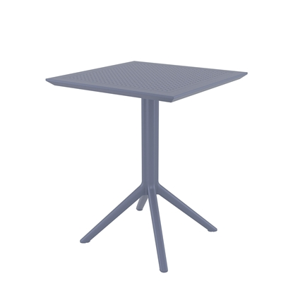 Picture of RFG table Folding, bendable, plastic, darkgrey