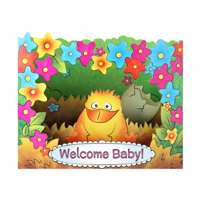 Picture of Gespaensterwald 3D Greeting card, Welcome Baby