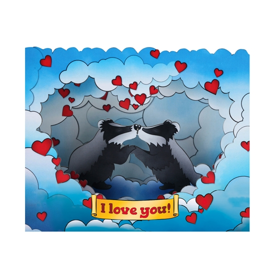 Picture of Gespaensterwald 3D Greeting card, I love you