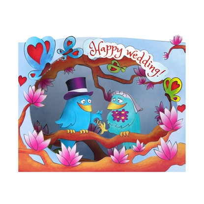 Picture of Gespaensterwald 3D Greeting card, Happy Wedding