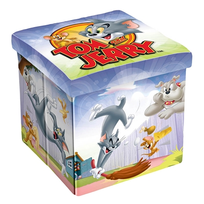 Picture of Disney Stool Tom & Jerry, 3 in 1, MDF and textile, up to 150 kg