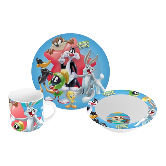 Picture of Disney Set mug, plate and bowl L.Tunes, porcelain