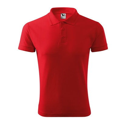 Picture of Malfini Mens T-shirt Pique Polo 203, size M, red
