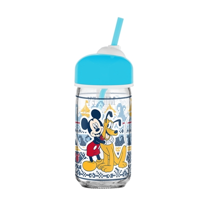 Picture of Disney Water bottle Mickey Mouse, with a straw, CC, 370 ml