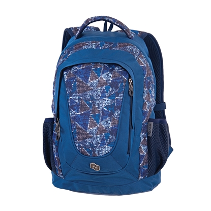 Picture of Pulse Backpack Music, triangle design, blue