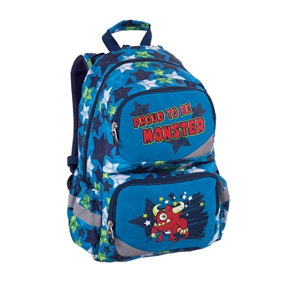 Picture of Pulse Backpack Anatomic Monster, blue-red