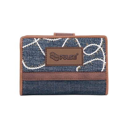 Picture of Pulse wallet Jeans Glossy, blue-brown
