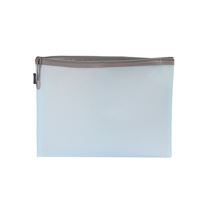 Picture of Office 1 Superstore Mesh zipper bag Bloom, A4, pastel blue