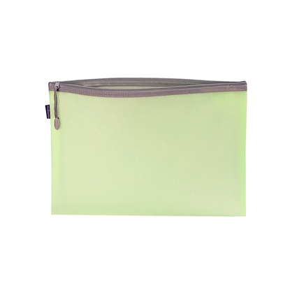 Picture of Office 1 Superstore Mesh zipper bag Bloom, A4, pastel green