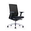 Picture of RFG Office chair Alcanto W, upholstery and mesh, black seat, black backrest